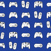 Game Controllers on Blue