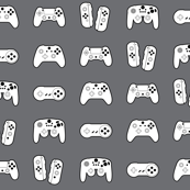 Game Controllers on Medium Grey