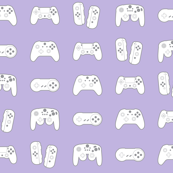 Game Controllers on Pastel Lavender