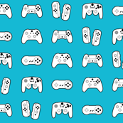 Game Controllers on Sky Blue
