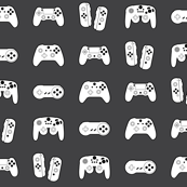 Game Controllers on Dark Grey