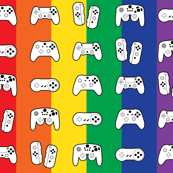 Game Controllers on Rainbow / Pride