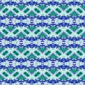 Green & Blue Broken Zigzags