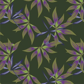 Floral print358-01