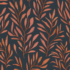 leaves {burnt orange and midnight}