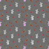 Nancy Koala & Friends - charcoal grey, medium