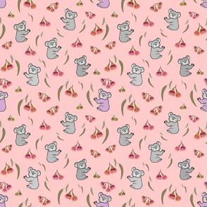 Nancy Koala & Friends - coral pink, medium