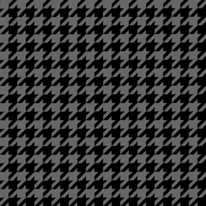 Houndstooth black and grey