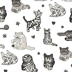 Inky Cats (Larger Scale)