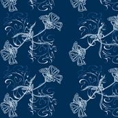 Ice Flowers and Blue Swirls