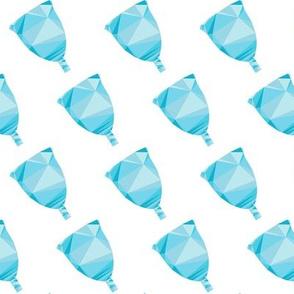 Menstrual Cup Gems Blue