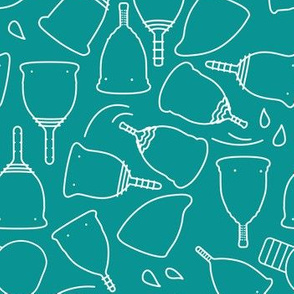 Menstrual Cups on Teal