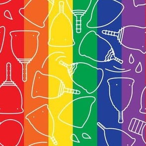 Menstrual Cups Rainbow Pride