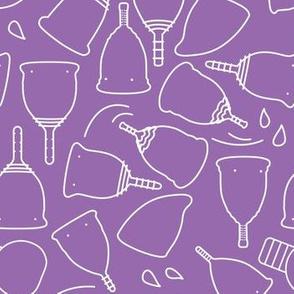 Menstrual Cups on Purple