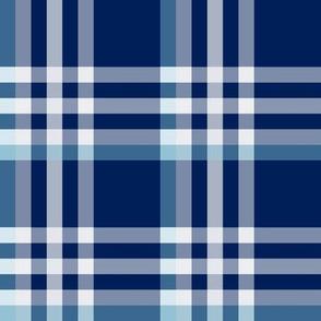 Plaid Navy Blue