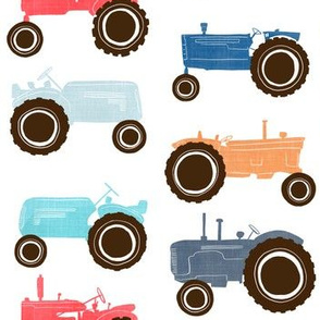 Vintage Tractors *Alternate Colorway and Spacing