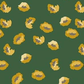 yellow stylized blossoms small