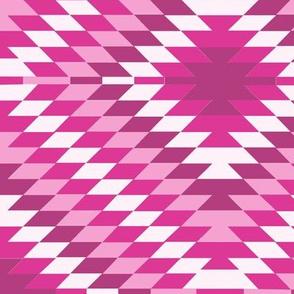 Kilim Eye in Hot Pink