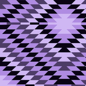 Kilim Eye in Purple and Purple-Black