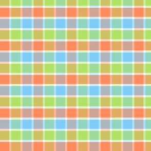Good Grid Plaid 4in-Tangerine Dream