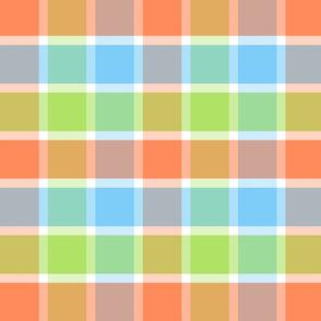 Good Grid Plaid 8in-Tangerine Dream