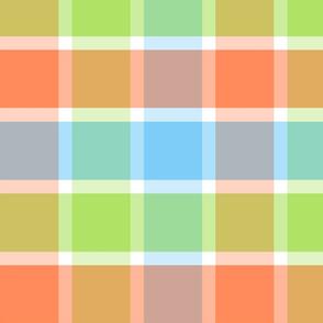 Good Grid Plaid 12in-Tangerine Dream