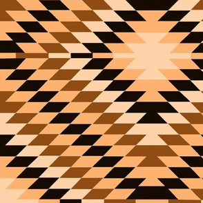 Kilim Eye in Sand Brown Cream and Black