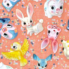 Kitschy figurines - salmon