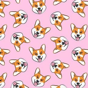 Corgi - cute dogs - Pembroke Welsh Corgi - pink - LAD20