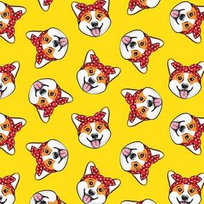 Rosie Corgi - Corgi dog - Pembroke Welsh Corgi - yellow - LAD20