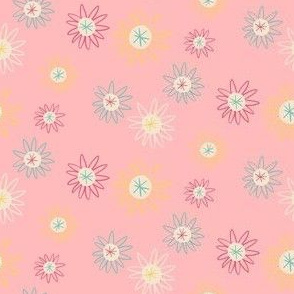 Pink Ditsy Space Daisy