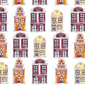 Watercolour Little Houses