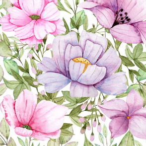 Watercolour Flowers 01