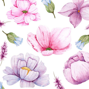 Watercolour Flowers 02