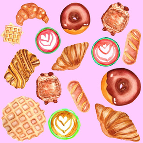 Pastries and lattes - Pale pink