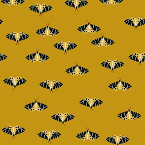 jersey tiger moths mustard