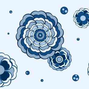 Blues Bouquet and Bubbles