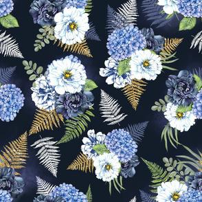 Blue flower festival
