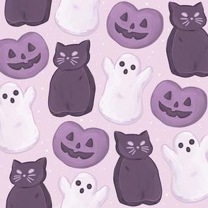 Halloween Marshmallows Purple Jumbo Large S...
