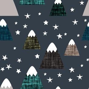 linen mountains on 174-16: teal 001, dark ash, deep sea, himalaya, olive green, mocha, 170-1