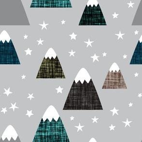 linen mountains on 179-4: teal 001, dark ash, deep sea, himalaya, olive green, mocha, 179-8