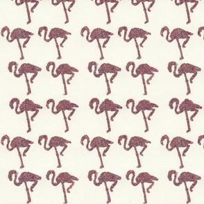Glitter Flamingos