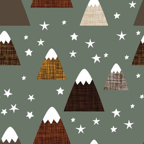 linen mountains on blue sage: coffee, chocolate, mushroom, penny, 13-2, 23-16, 19-16