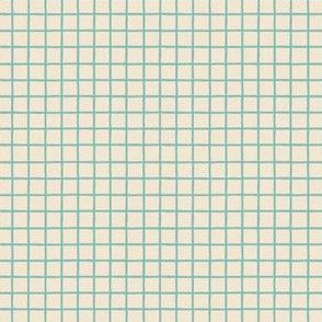 Teal Grid Reverse