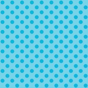 Polka Dots Blue On Blue