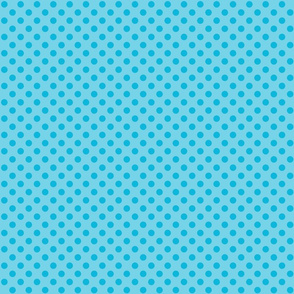Polka Dots Blue On Blue Small