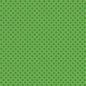 Polka Dots Green On Green Small