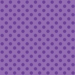 Polka Dots Purple On Purple