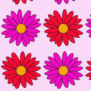 Pink and red summer floral