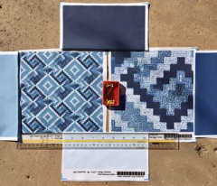 ice icy light blue quilt blender solid coordinate color